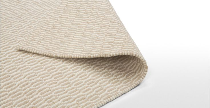 Alma Rug 170 x 240 in beige and white | made.com