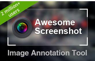 *Awesome Screenshot*  Met deze extensie leg je niet alleen vast wat u maar wilt, maar kun je het vastgelegde ook annoteren. U kunt pijlen en vormen toevoegen, aanvullende tekst schrijven, tekst markeren en privacygevoelige informatie onleesbaar maken.