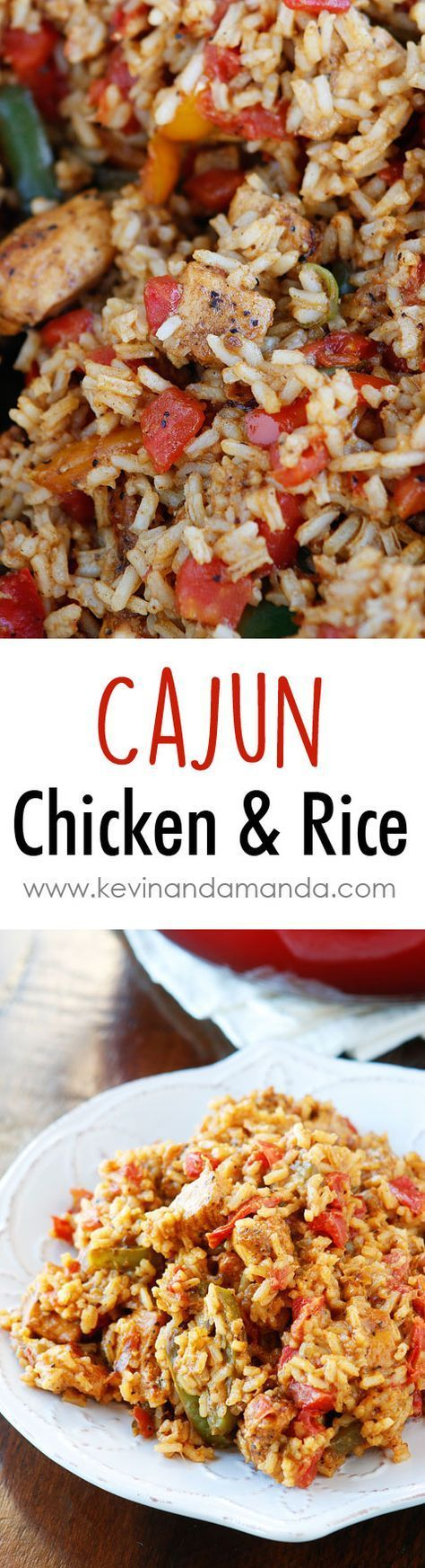 Cajun Chicken & Rice Recipe. Only 6 ingredients. Perfect quick and easy…