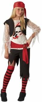 GIrls Pirate Costume - Deluxe Sassy Pirate Costume