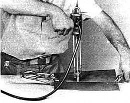 Arc Welding Gun - Homemade arc welding gun designed for tack welds, spot welds, and burning holes through sheet metal.