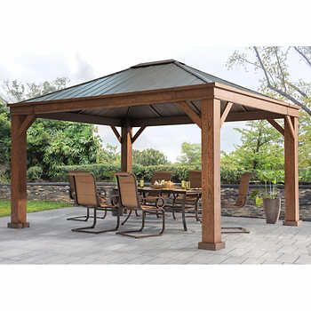 Best 20 hardtop gazebo ideas on pinterest backyard for Terrace gazebo
