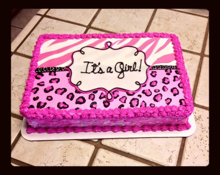 Zebra and cheetah print baby shower cake :)