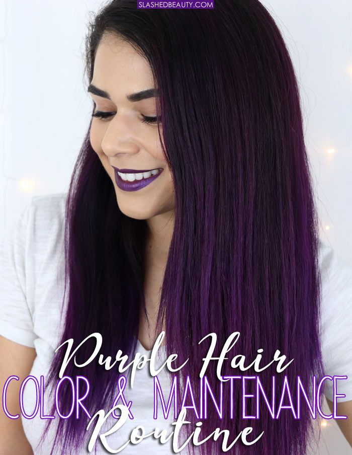Purple Hair Color Maintenance Routine Hair Color Purple Purple