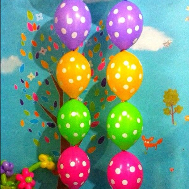 Polka Dot Balloon Pillars. Also available in an arch. From $20
