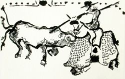 Drawings bullfight