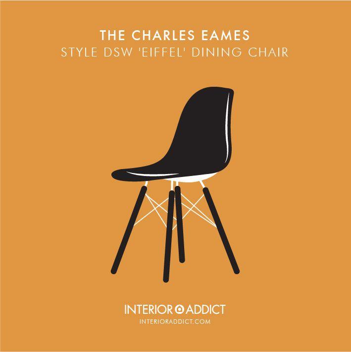Eames DSW Eiffel Dining Chair#Eames #RayEames#CharlesEames #DSW#Eiffelchair