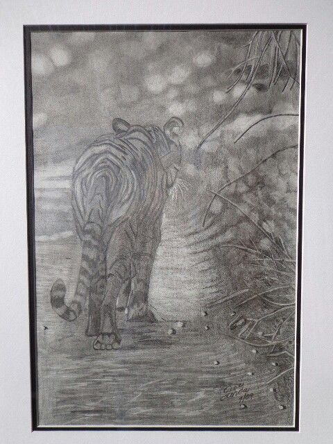 Tiger in pencil - eraser - Linda