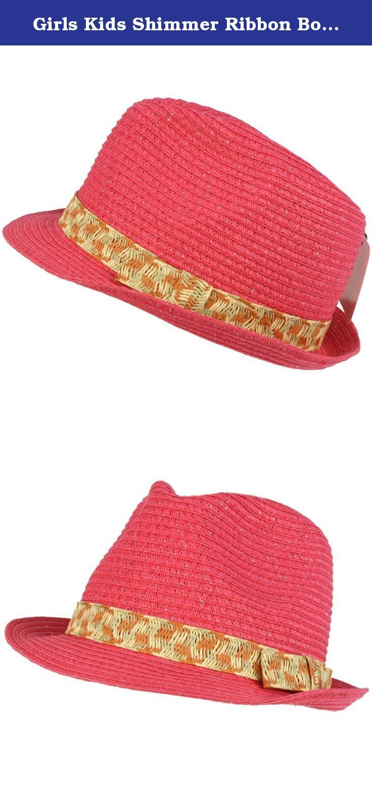 Girls Kids Shimmer Ribbon Bow Ages 4-9 Child Summer Sun Fedora Trilby Hat Pink. New Kids Girls Child Hint of Shimmer Lurex Silver Threading Summer Spring Crushable Fedora Trilby Hat Cap with multi-color ribbon hatband. Crushable Fedora, will pop to shape. Perfect for hot weather to keep harmful sun and UV rays out of your face. Or even a formal affair like weddings, Kentucky derby, how about a picnic, a costume for a play, a day at the park, the beach or just looking stylish. Your kids…