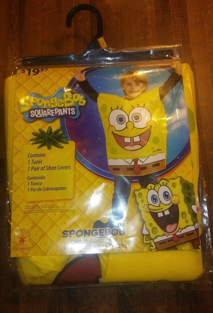 SPONGEBOB SQUAREPANTS COSTUME KID LARGE 10/12 HALLOWEEN BRAND NEW BOY GIRL NEW  | Clothing, Shoes & Accessories, Costumes, Reenactment, Theater, Costumes | eBay!