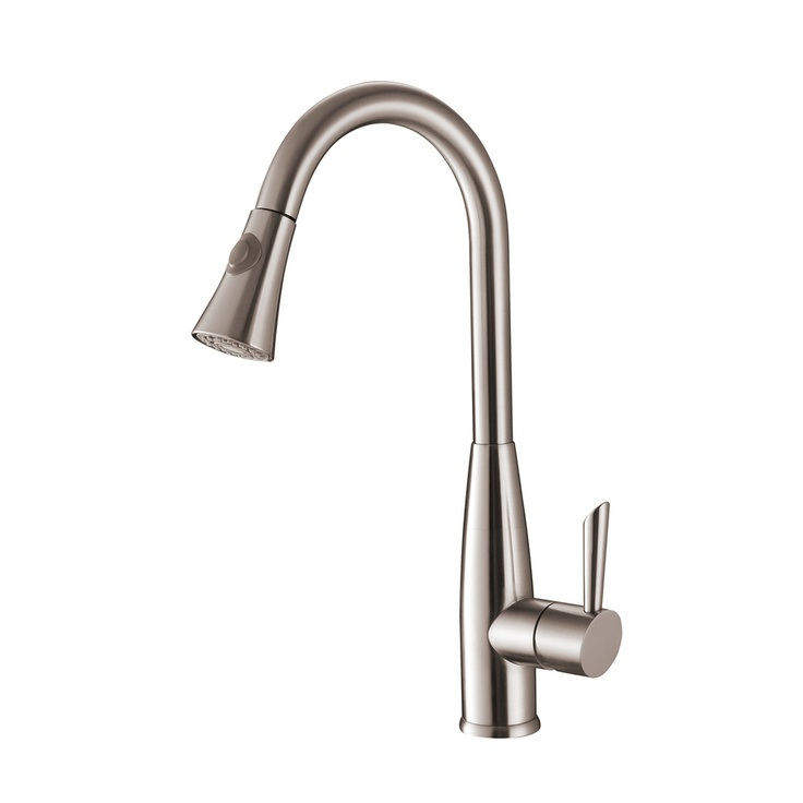 Ruvati RVF1228ST Stainless Steel Pullout Spray Kitchen Faucet | Overstock.com: Kitchen Faucets