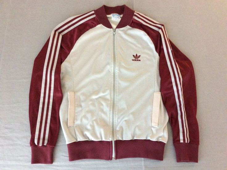 vintage #80s original adidas atp keyrolan trefoil leaf zip up jacket mens medium from $19.99