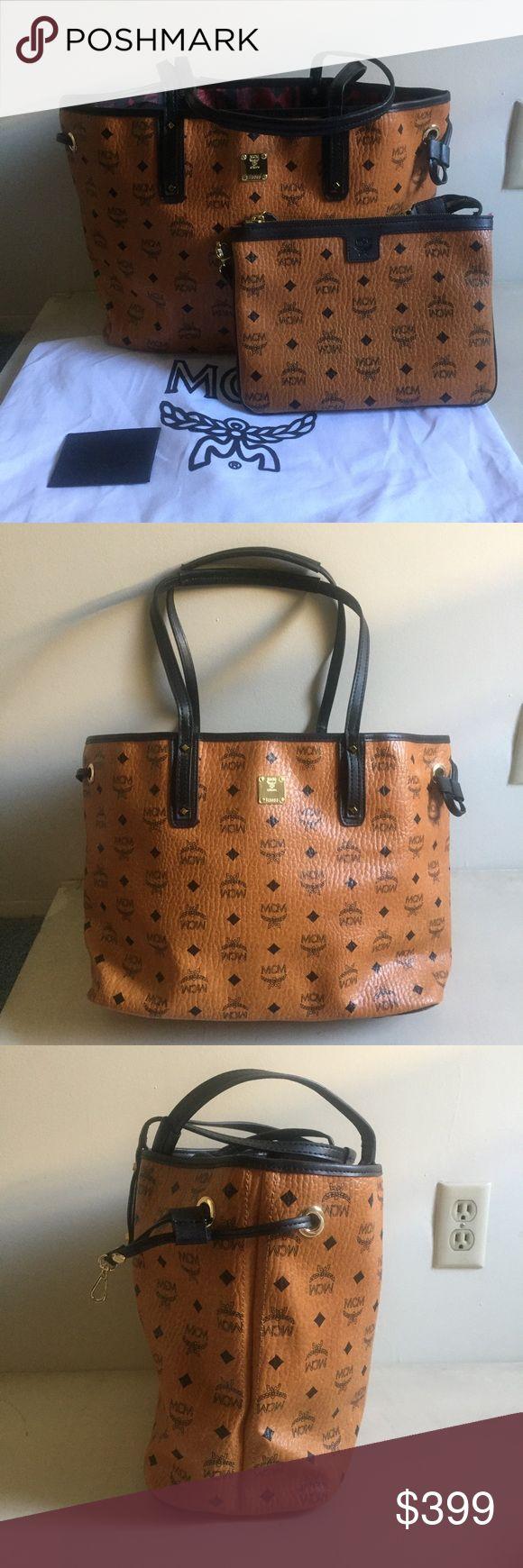 MCM Handbag Tote Brown Purse Never used, 100% authentic MCM reversible tote. MCM Bags Totes