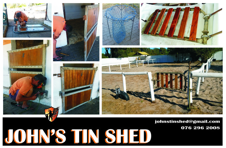 Did some routine maintenance @ stable and made Haynet stand @ HorsesandDreams SA