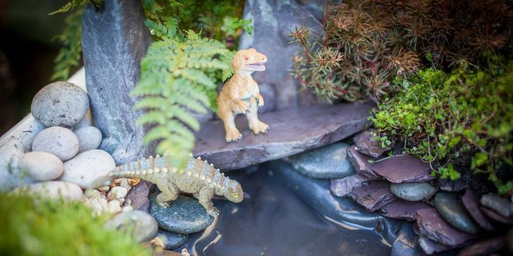 """DIY """"Dino Parks"""" Are the Best Way to Get Kids Excited About Gardening  Say goodbye to summer boredom with this brilliant backyard project."""