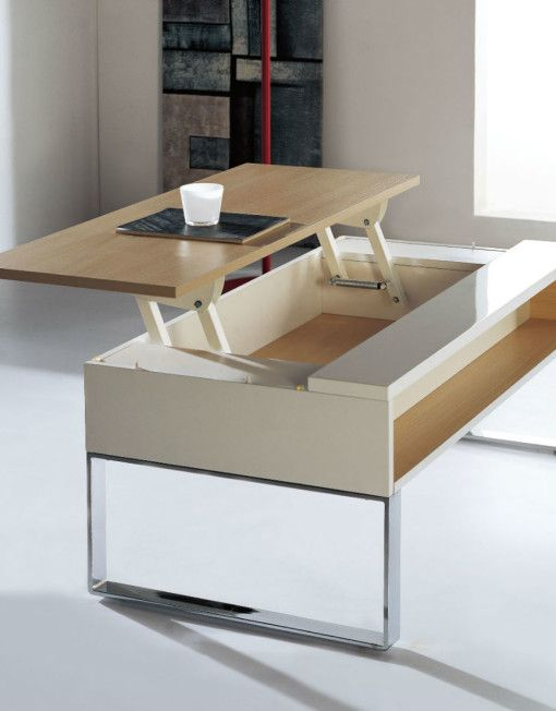 Expand Furniture's Lift coffee table in it's up position, ready for a laptop for easier working/browsing, food or drinks in a more convenient position from this very practical table.