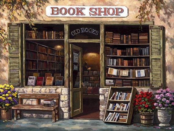Book Shop Counted cross stitch pattern in PDF by Maxispatterns