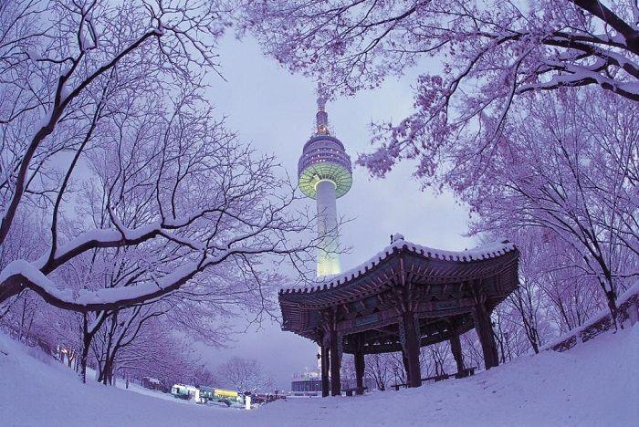 Du lịch Hàn Quốc mùa đông khám phá Seoul đầy tuyết
