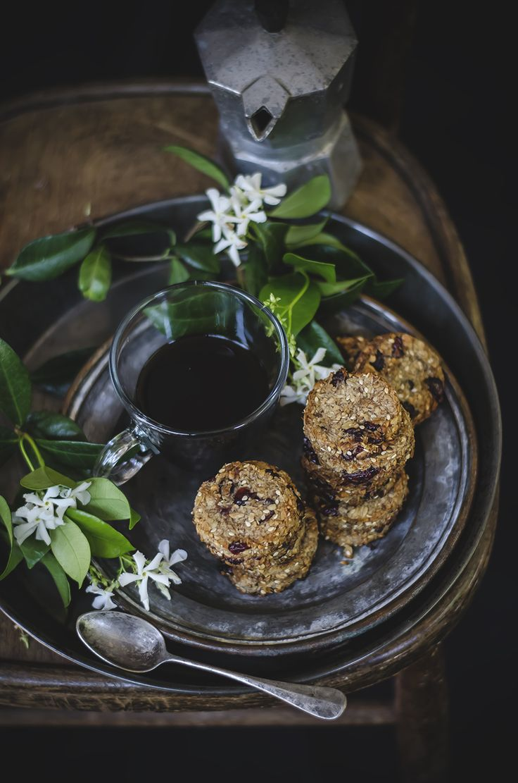 Oat cookies with nuts, banana, cranberries