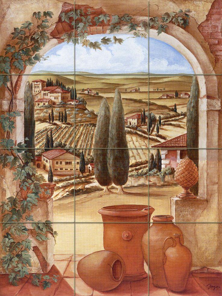 Art Toscano Mural Ceramic Backsplash Bath Tile 146 | eBay