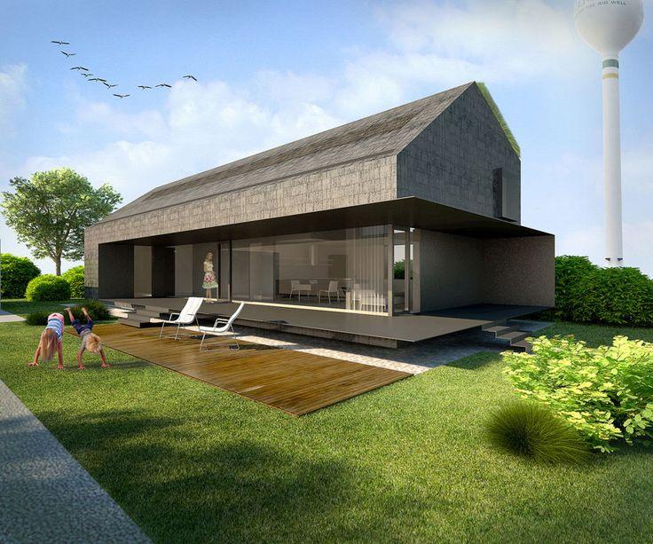 Black shingle eco-house   YIANNA BOUYIOUKOU & MARIJA VOLKMAN   Greensburg, Kansas: Families Houses, Decor Ideas, Budget Houses, Affordable Houses, Houses Ideas, Black Houses, Cheap Houses, Modern Houses, Shingle Eco Houses