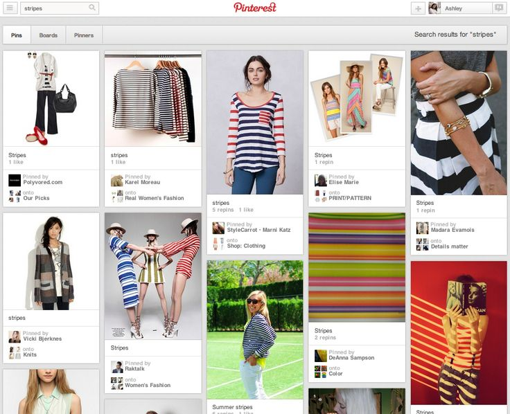 1. Pinterest search for STRIPES: clothes, art, design | Pinterest Accidentally Built A Better Search Engine ThanGoogle