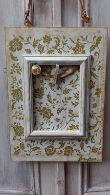 Funky-Junk Furniture Design and Craft: Découpage Tutorial - Cream and Gold Plaquette with...