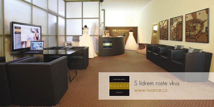 Zkušební místnost svatebního domu NUANCE má osobitý design.