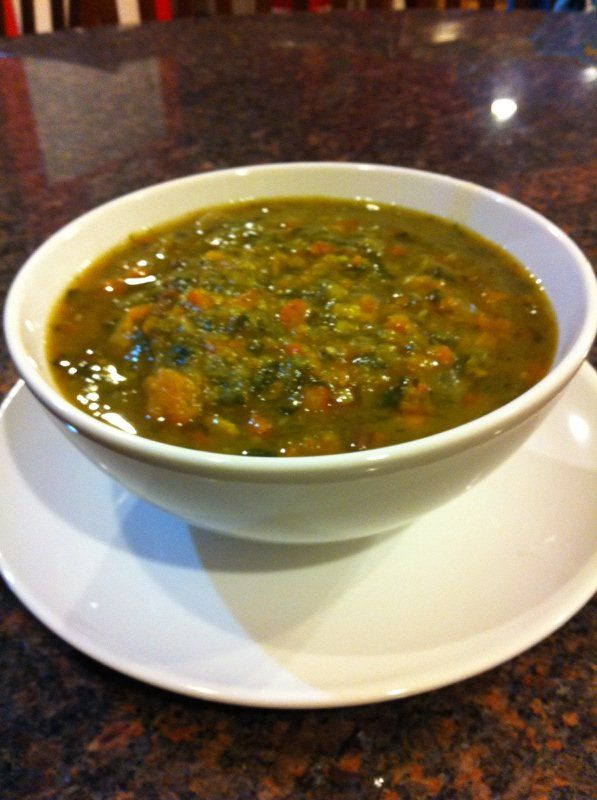 Hearty Lentil Vegetable Soup: Ian loves to make this AMAZING super-thick, filling vegetable soup that is 100% pure goodness.