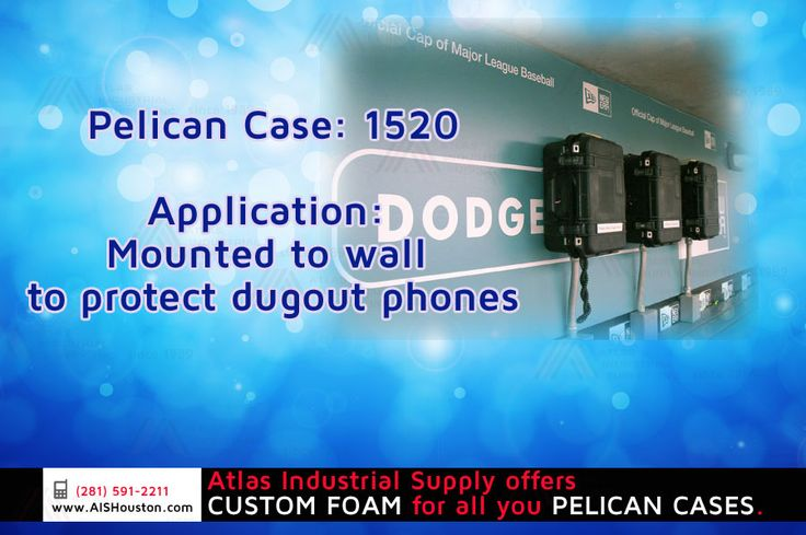 Pelican Case: 1520, Application: Mounted to wall to protect dugout phones http://store.aishouston.com/index.php?option=com_content&view=article&id=95&Itemid=681
