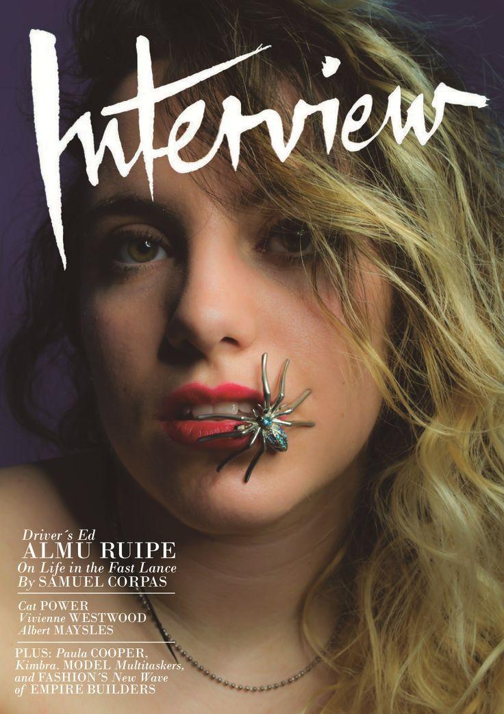 Portada Interview, Fotografia de moda. Perdida de calidad debido a la conversión.  Modelo, Almudena Ruiperez Inspiración, Helmut Newton