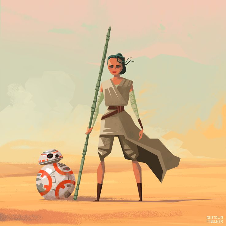 Rey and BB-8  Created by Gustavo Viselner