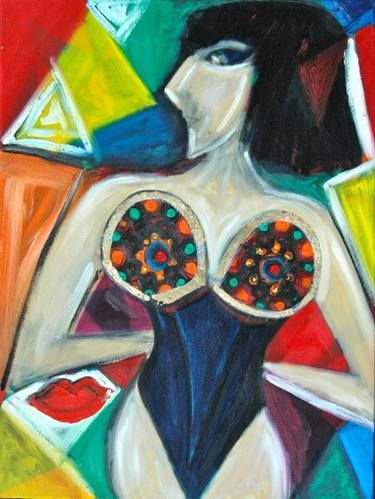 "Saatchi Art Artist Stephia Gonzalez; Painting, ""Don t say anything"" #art"