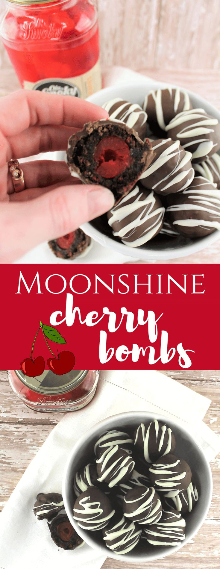 Moonshine Cherry Bombs #moonshine #cherrybomb #chocolate