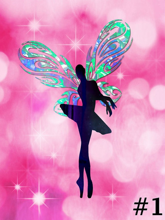 Butterfly Ballet Ballerina Girls Room Art by UniqueChildrensArt, €12.00
