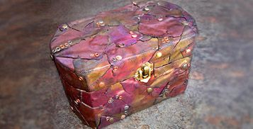 """Steampunk Trunk---I don't agree with """"Steampunk"""" as a description, however it's a lovely box."""