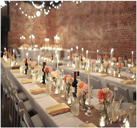 """102"""" x 12"""" Inch Burlap Table Runners ( Fit 6ft Long Tables) - The Rustic Chic Boutique"""