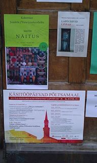 Road side ads of the first transnational event of the Project: #Craft festival in Pöltsamaa, Estonia.