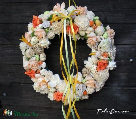 Meska - Húsvéti ,tavaszi ajtódísz, kopogtató ,ajándék ,koszorú TotiDecor kézművestől