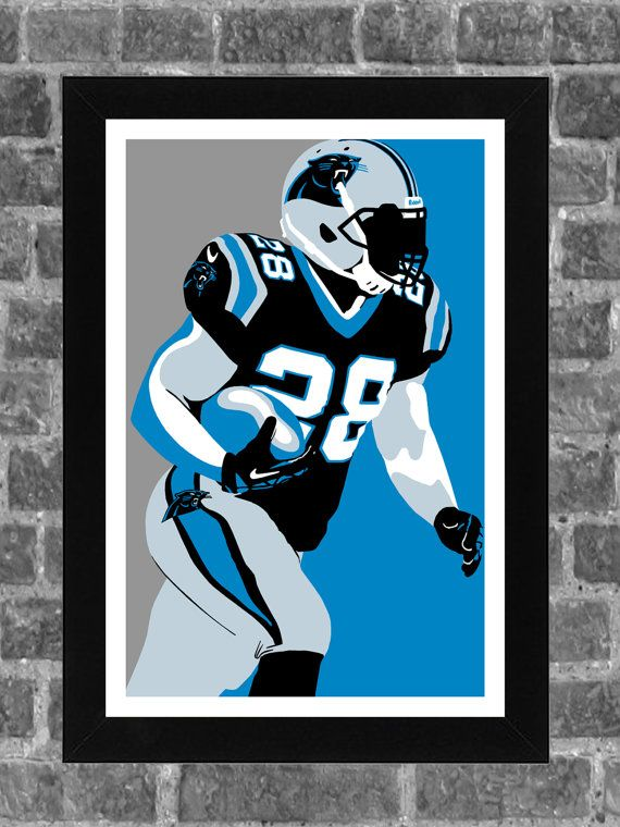Carolina Panthers Jonathan Stewart Portrait Sports by FanFourLife