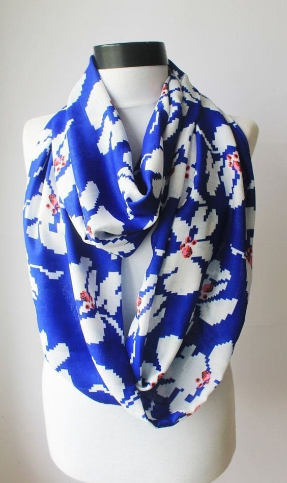 daisy  scarfprint scarflong by starshopboutique on Etsy