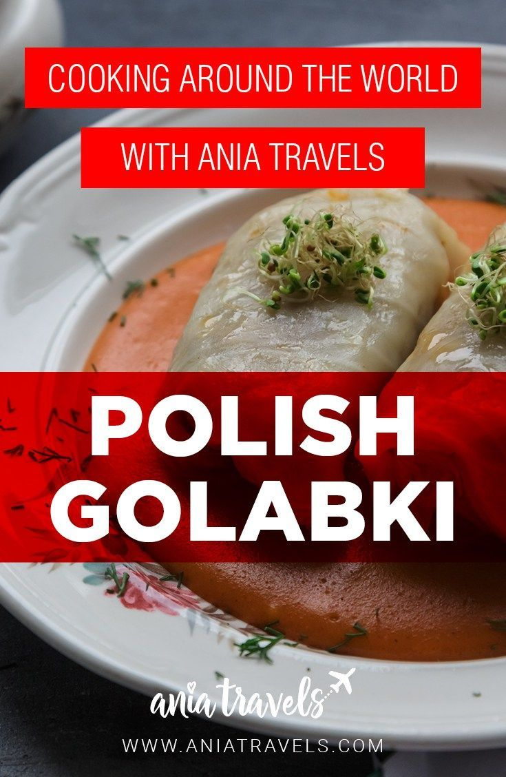 Let's start with one of my favorite Polish comfort dishes ever. Golabki (GAW-WUMP-KEE)! Golabki are probably one of the most famous dishes ever and they are simply: stuffed cabbage rolls. Here's my recipe for Polish golabki. Smacznego! | polish food | traditional | foodie | cooking around the world | golabki | poland