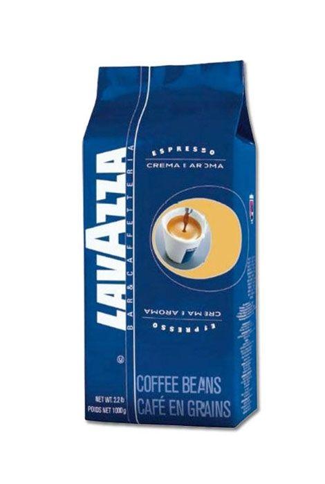 KAWA LAVAZZA CREMA e AROMA Blue Espresso  • oryginalna włoska kawa • kawa ziarnista • mieszanka arabiki i robusty • intensywny, mocny smak • delikatna pianka