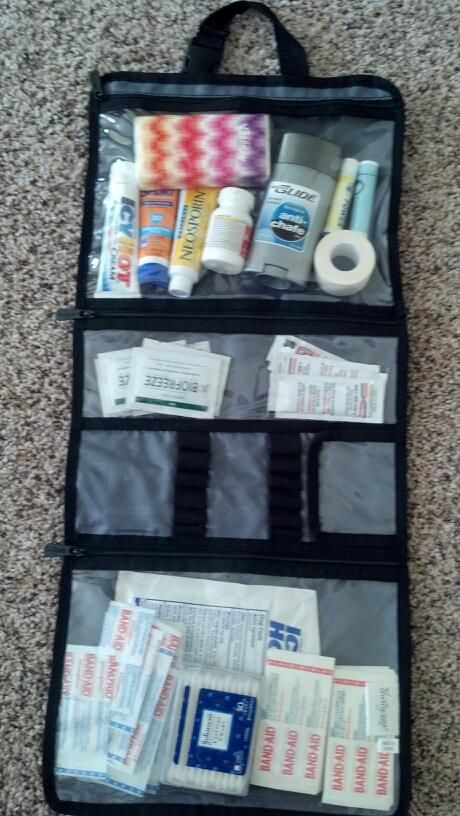 Good for sports events! $25.00 turn a beauty bag into a first aid kit! mythirtyone.com/shondrapatterson