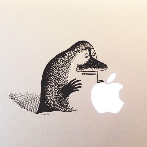 Groke laptop sticker