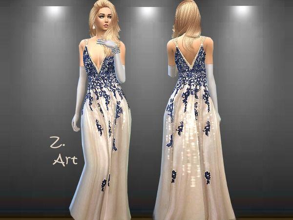 Opera gown by Zuckerschnute20 at TSR via Sims 4 Updates