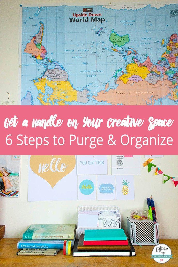Scrapbook organization ideas - Get A Handle On Your Creative Space Once For All Scrapbook Organizationhandmade Ideascraft