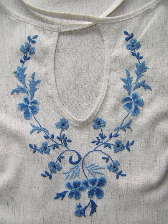Contemporary embroidered women's shirt by UKREmbroidery on Etsy, $124.50