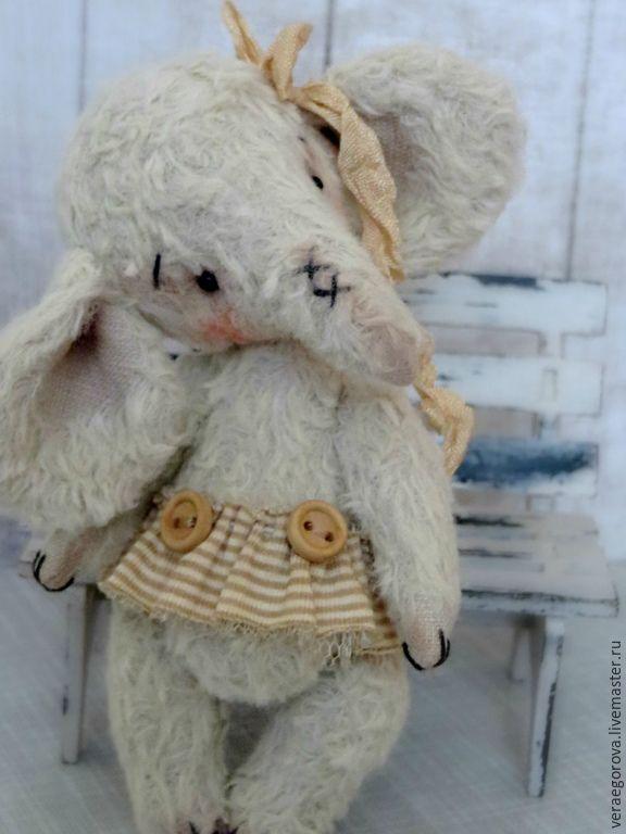 Купить Слоняша Салли - бежевый, слоник тедди, слоненок, слон игрушка, слон, слоник девочка