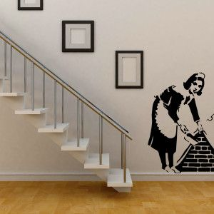 Adesivi murali  WallStickers-Tribute-Banksy-Waitress_gallery